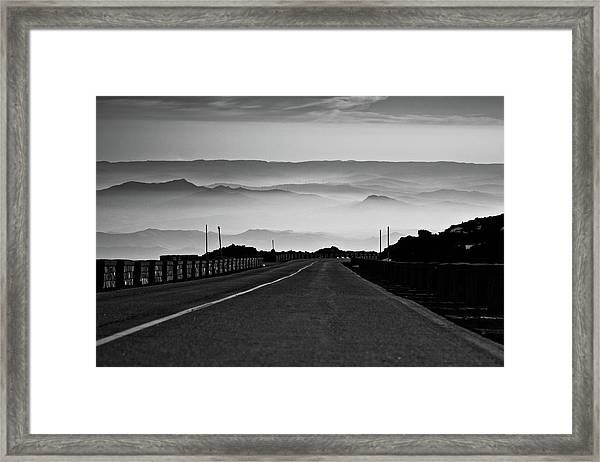 Etna Road Framed Print