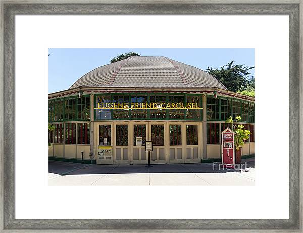 Eugene Friend Carousel At The San Francisco Zoo San Francisco California Dsc6331 Framed Print
