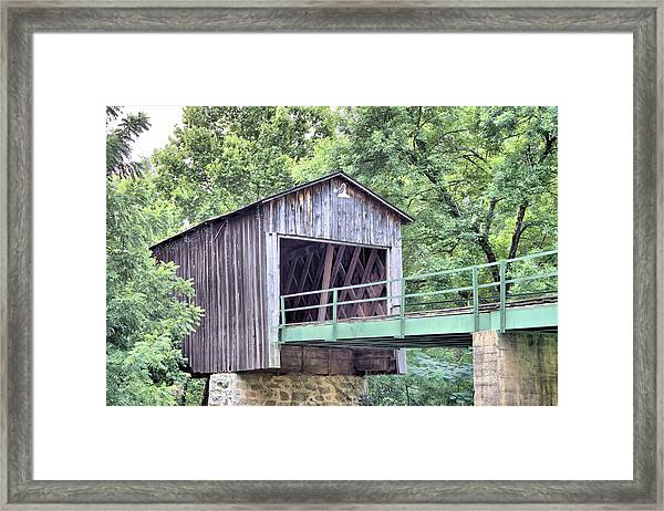 Euharlee Creek Covered Bridge Framed Print