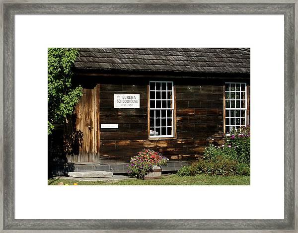 Eureka Schoolhouse Framed Print by Lois Lepisto
