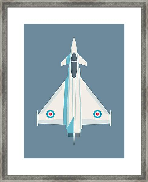 Typhoon Jet Fighter Aircraft - Slate Framed Print