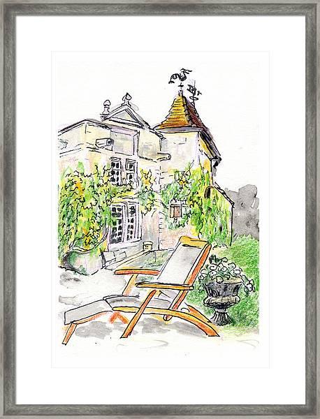 European Chateau Lounge Chair Framed Print