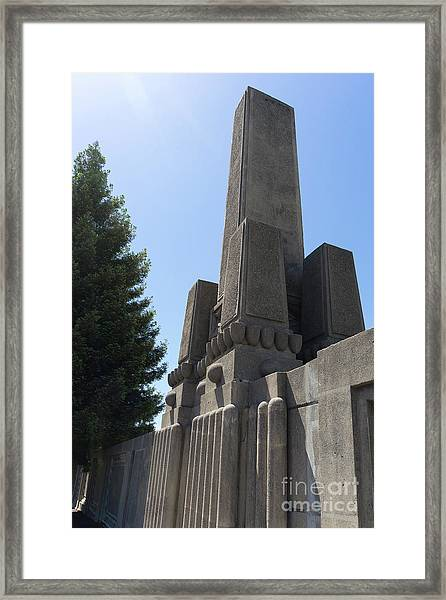 Evans Baseball Field Monument At University Of California Berkeley Dsc6313 Framed Print