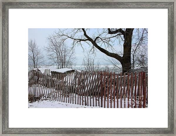 Evanston Winter Framed Print