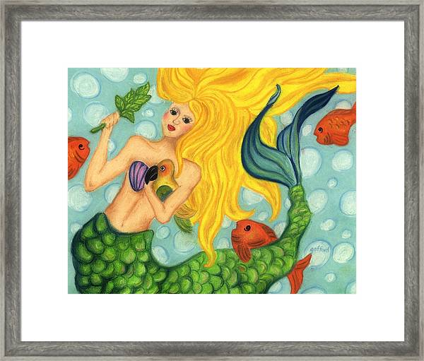 Eve The Mermaid Framed Print