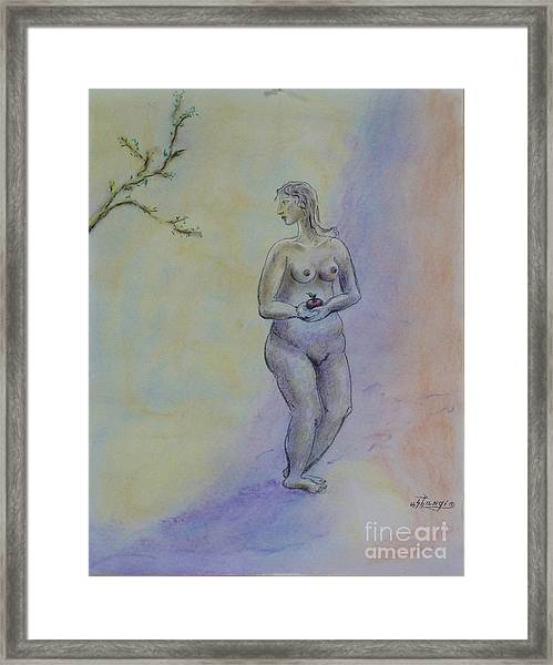 Eve Framed Print by Ushangi Kumelashvili