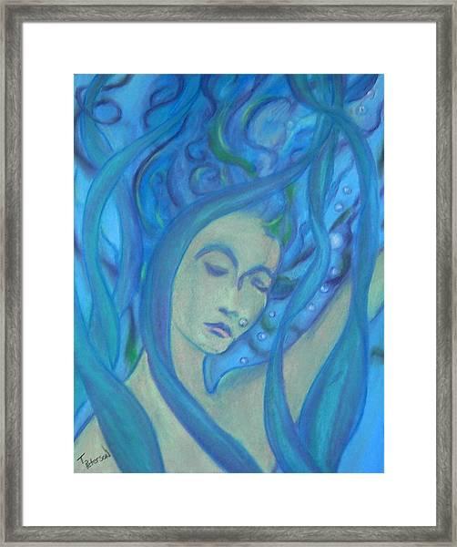Even Mermaids Get The Blues Framed Print