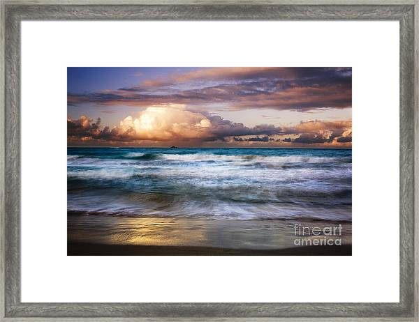 Evening At Kailua Beach Framed Print