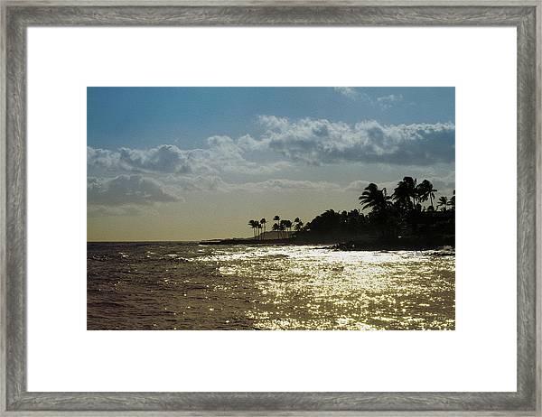 Evening At Poipiu Kauai Framed Print