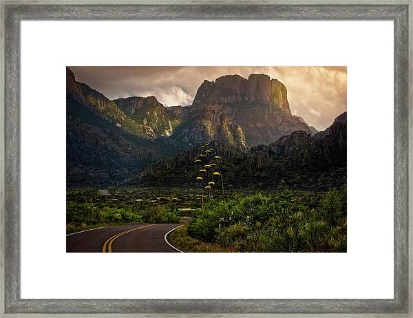 Evening At The Chisos Framed Print