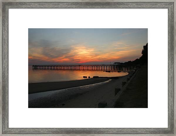 Evening At The Hilton Pier  Framed Print