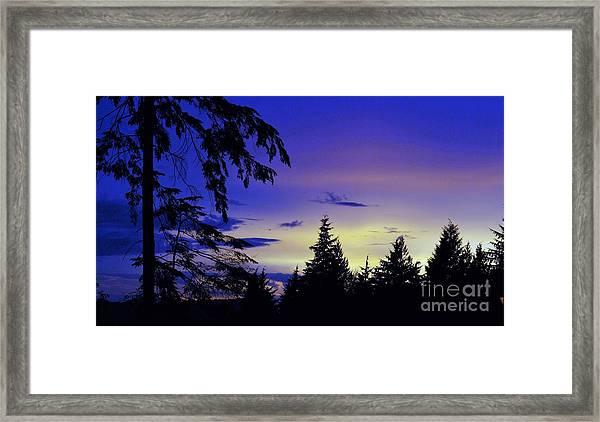 Evening Blue Framed Print