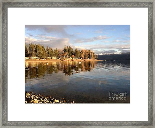 Evening By The Lake Framed Print