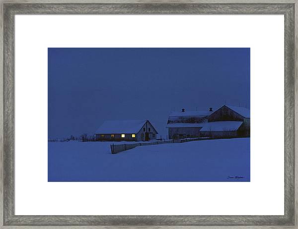 Evening Chores Framed Print