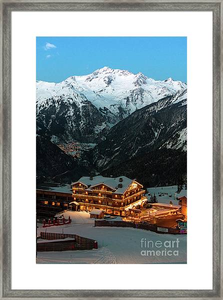 Evening Comes In Courchevel Framed Print