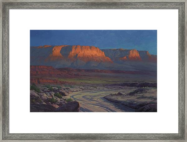Evening Comes To Marble Canyon Framed Print