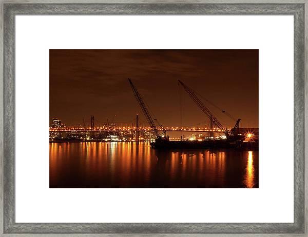 Evening Illumination Framed Print