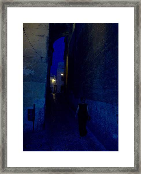 Evening In Arcos Spain Framed Print