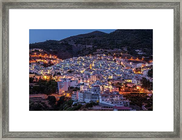 Evening In Competa Framed Print