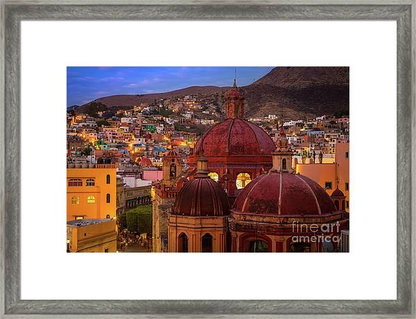Evening In Guanajuato Framed Print