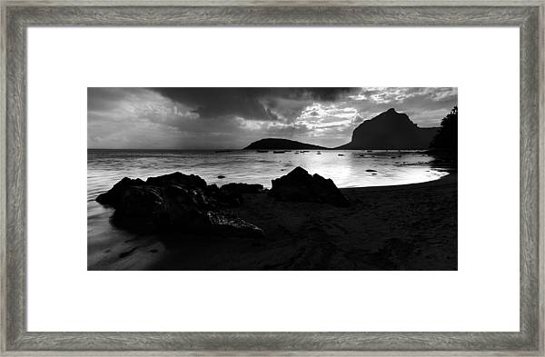 Evening In Le Gaulatte Framed Print