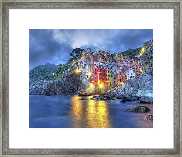 Evening In Riomaggiore Framed Print