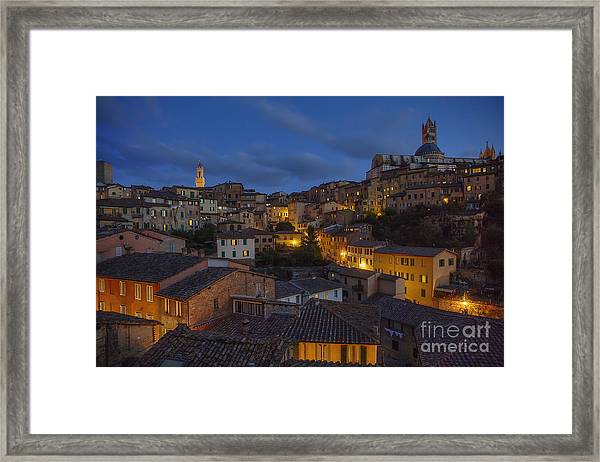Evening In Siena Framed Print