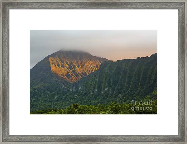 Evening Light On Ko'olau Mountains Framed Print
