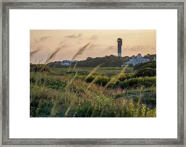 Evening Light Sullivan's Island Framed Print