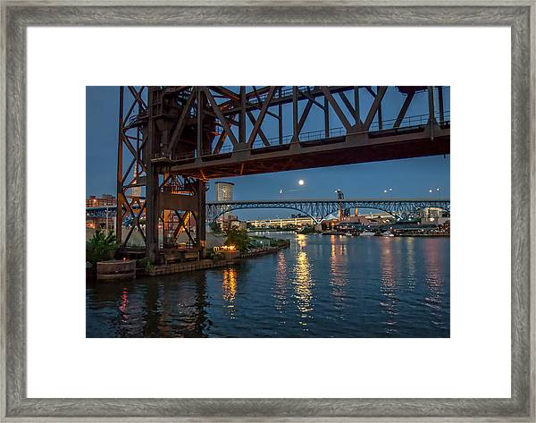 Evening On The Cuyahoga River Framed Print