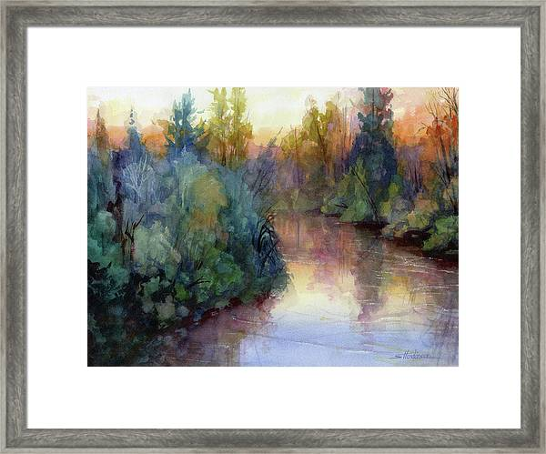 Evening On The Willamette Framed Print