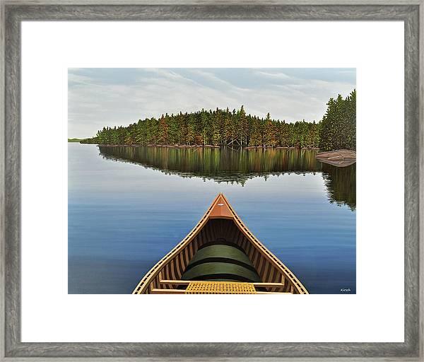 Evening Paddle  Framed Print
