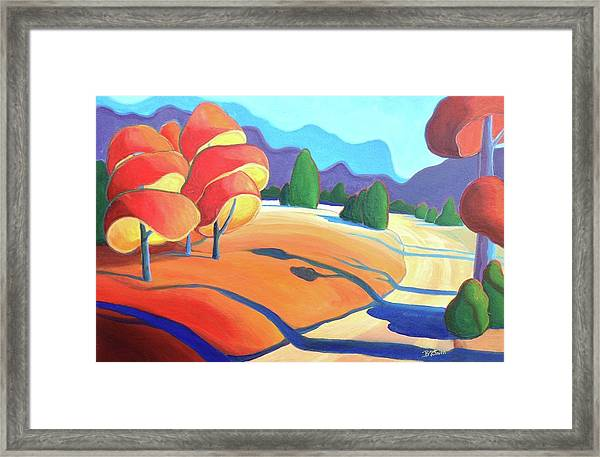 Evening Path Framed Print