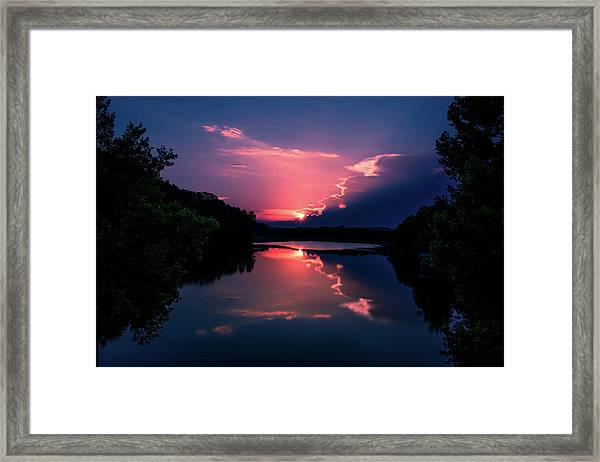 Evening Reflection Framed Print