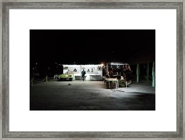 Evening Sales Framed Print