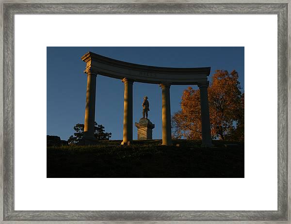 Evening Sentry Framed Print