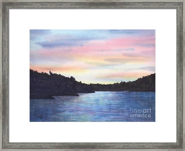 Evening Silhouette Framed Print