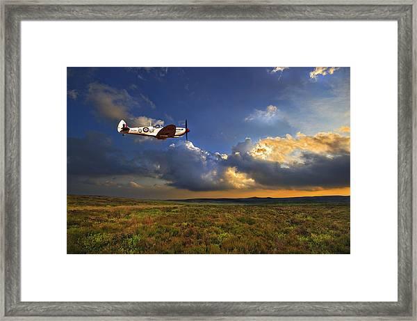 Evening Spitfire Framed Print