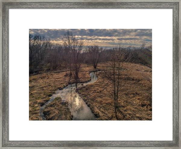 Evening Sun On The Creek Framed Print