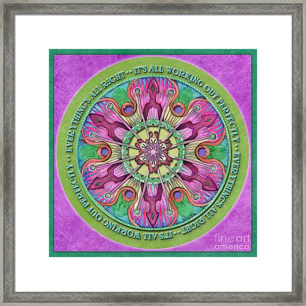 Everything's All Right Mandala Prayer Framed Print