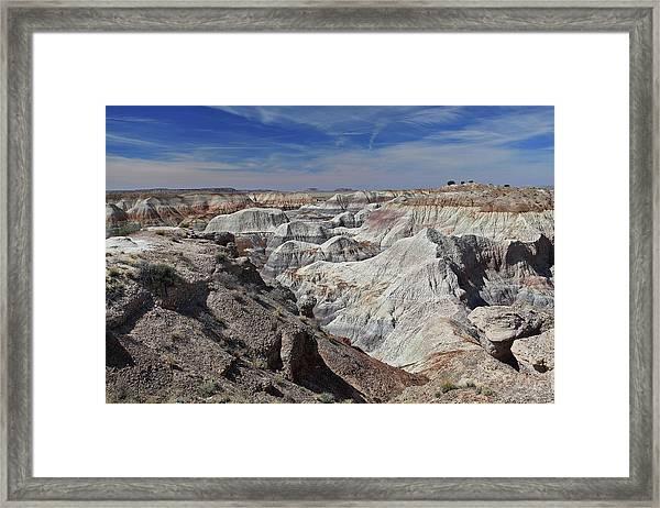 Evident Erosion Framed Print
