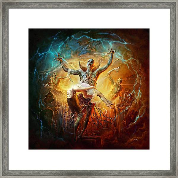 Evil God Framed Print