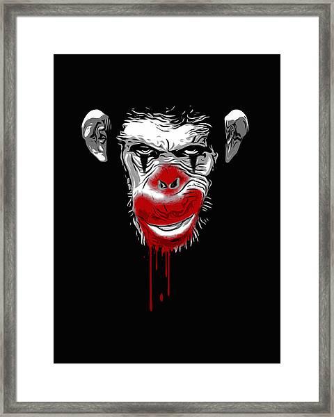 Evil Monkey Clown Framed Print