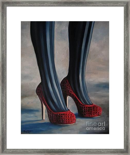 Evil Shoes Framed Print