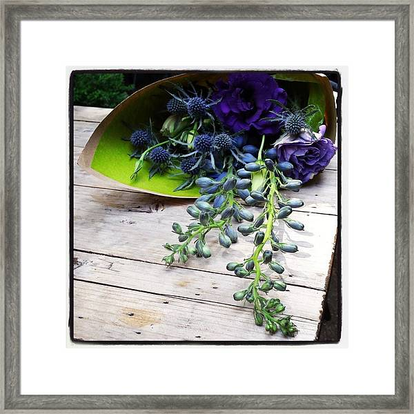 Framed Print featuring the photograph Excellent Customer Service. #flowers by Mr Photojimsf