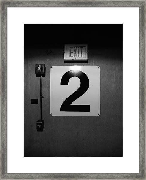 Exit Two Framed Print