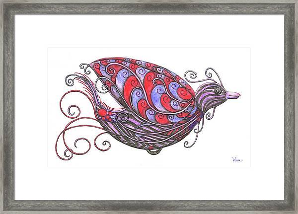 Exotic Bird V Framed Print