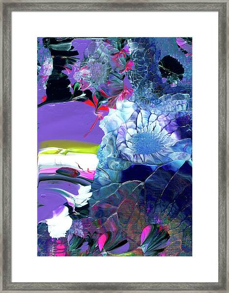 Exotic White Rose Island Framed Print