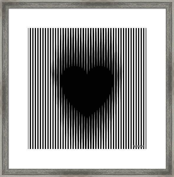 Expanding Heart Framed Print