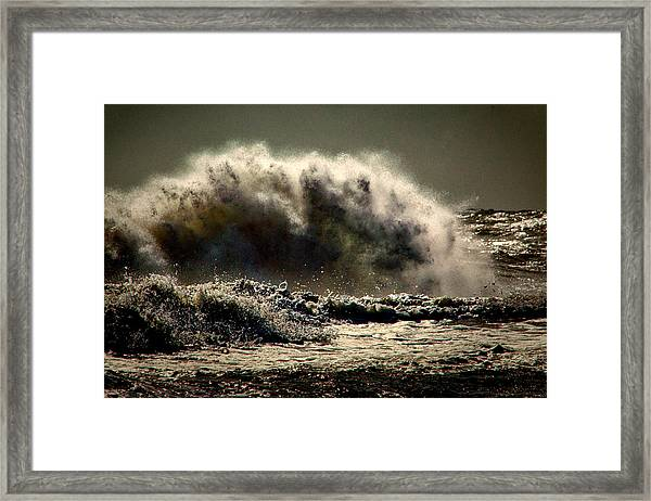 Explosion In The Ocean Framed Print